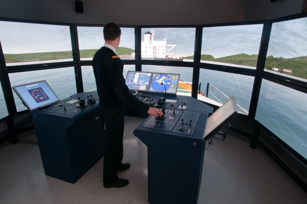 Marine simulator at BCIT's Marine Campus.  Photo by Scott McAlpine/BCIT.