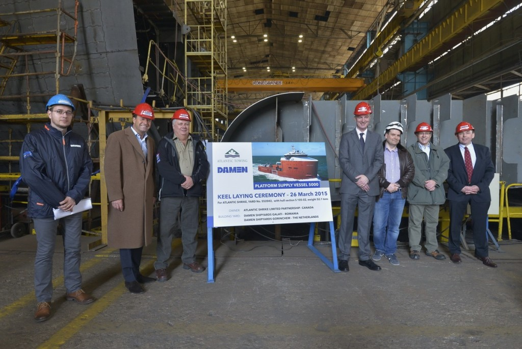 Damen celebrates keel laying of two PSV 5000 vessels