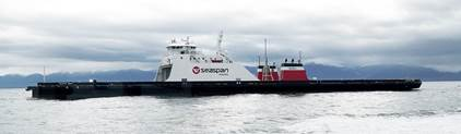 Seaspan Ferries Corporation announces arrival of first new liquified natural gas-fuelled vessel