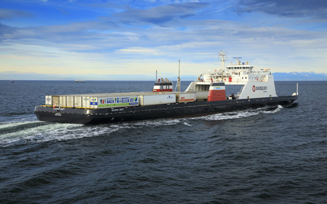 Seaspan Ferries to reduce greenhouse gas emissions through using carbon-neutral Renewable Natural Gas in LNG-powered vessels
